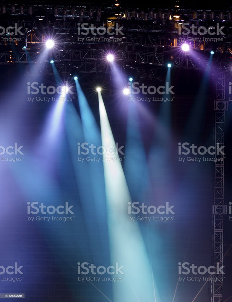 Vector Stage Spotlight with Laser rays stock photo