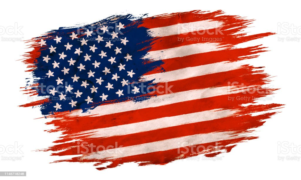Vector vintage American flag. Vintage flag of USA for an independence...