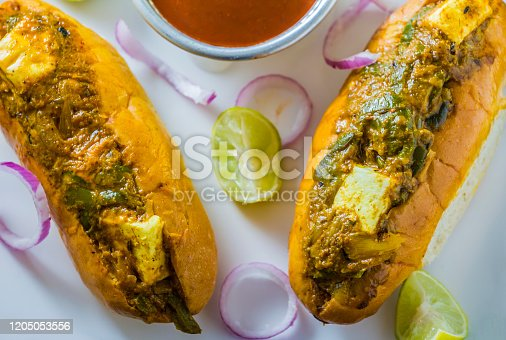 veg hot dog , Paneer hot dog