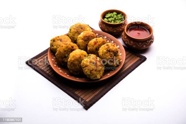 Veg Poha Roll Patties Or Tikki Stock Photo - Download Image Now