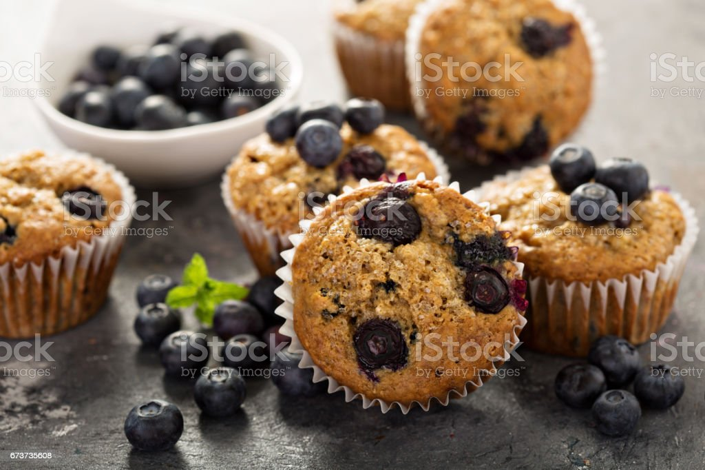Vegan banana blueberry muffins photo libre de droits