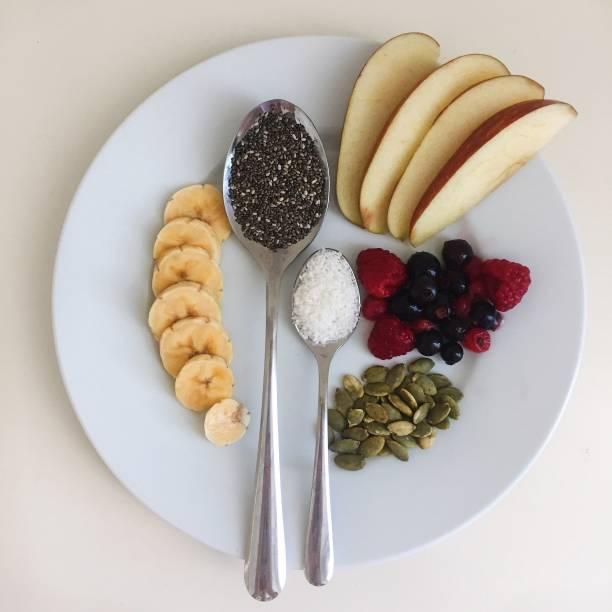 Vegan breakfast stock photo