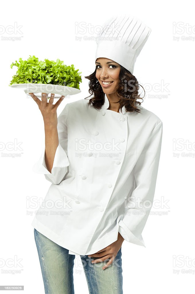 Vegan chef royalty-free stock photo