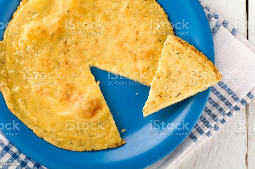 Vegan Chickpea Omelette stock photo