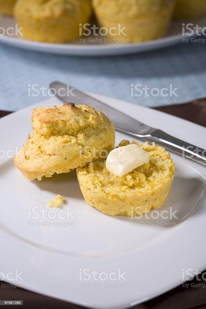 Vegan Corn Muffins royalty-free stock photo