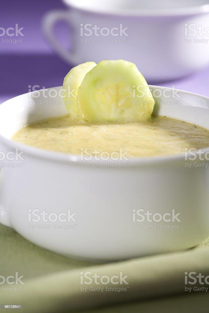 Vegan Cucumber Soup royalty-free stock photo
