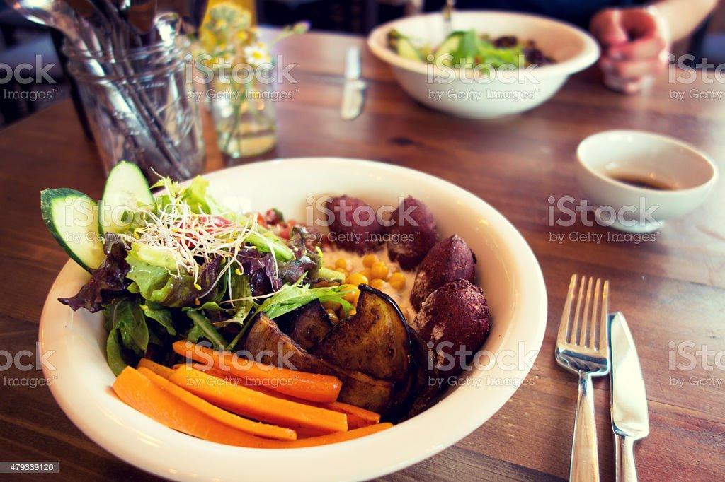 Vegan dining in Berlin, Germany stock photo