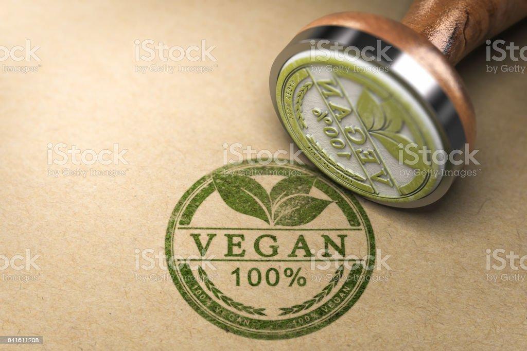 Vegan Food Certified stock photo
