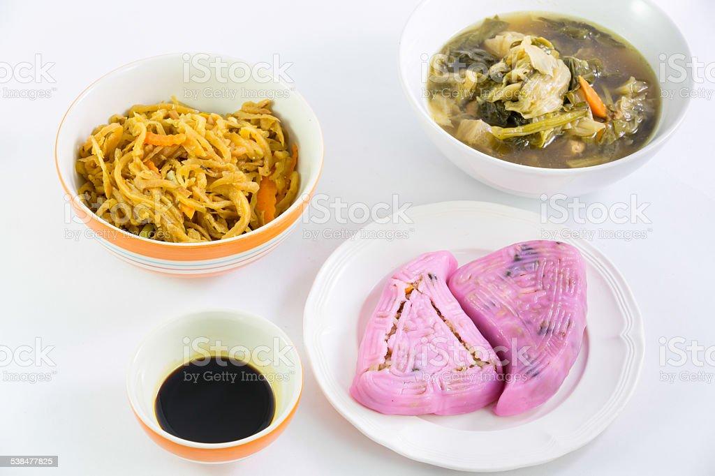 Vegan food in Nine Emperor Gods Festival, J food stock photo