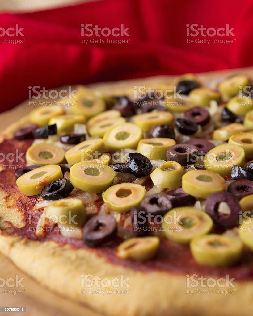 Vegan gluten free vegetables pizza royalty-free stock photo