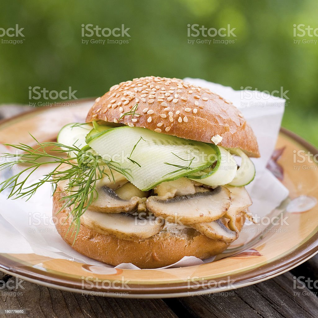 vegan hamburger royalty-free stock photo