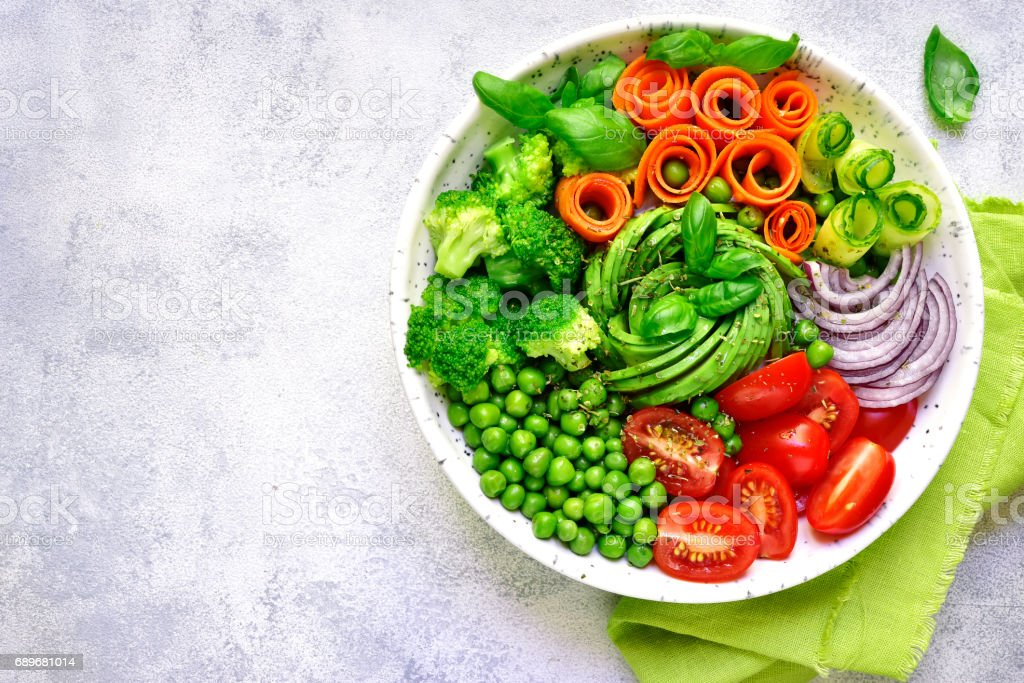 Vegan lunch bowl stock photo