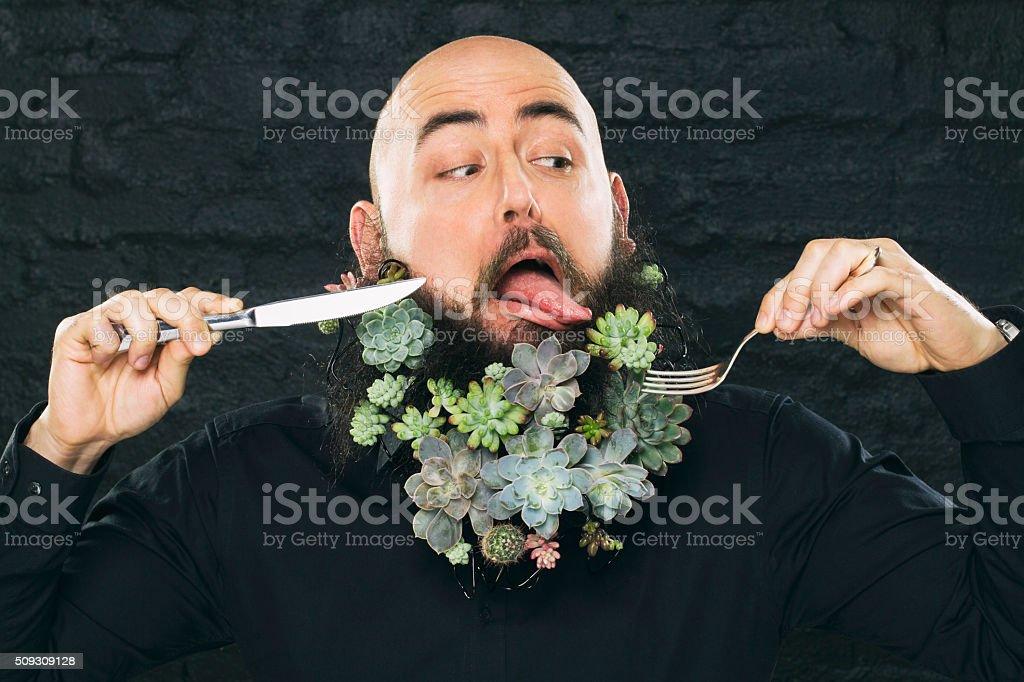 Vegan man stock photo