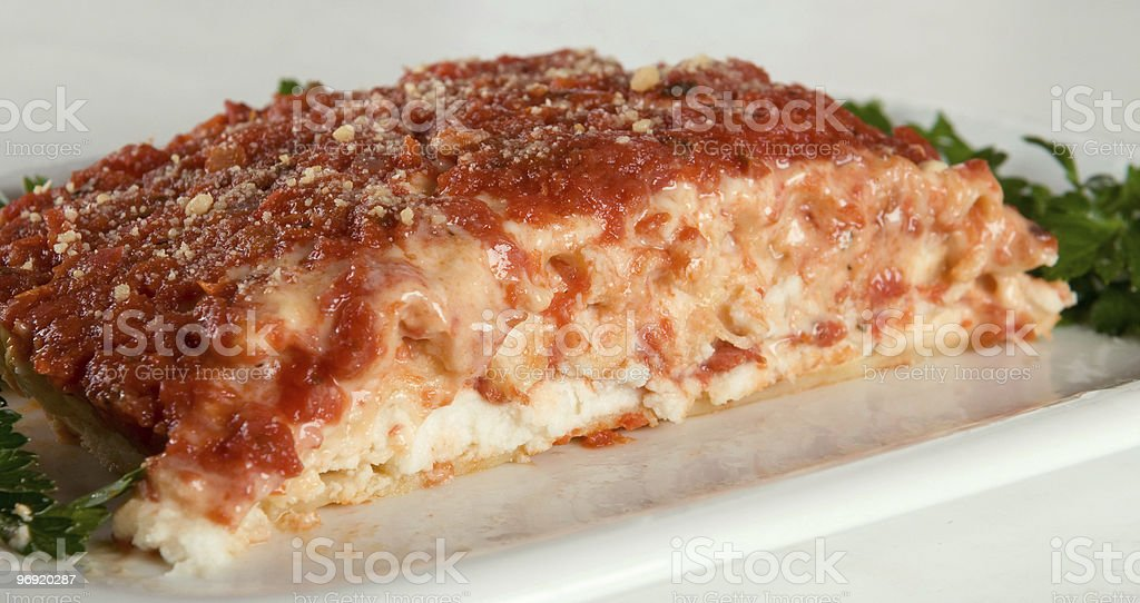 Vegan marinara lasagna royalty-free stock photo