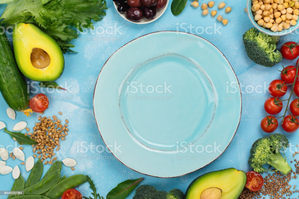 Vegan or raw food diet stock photo