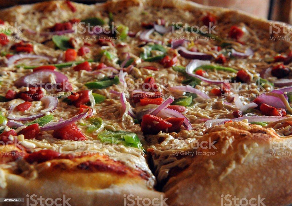 Vegan Pizza Close-Up stock photo