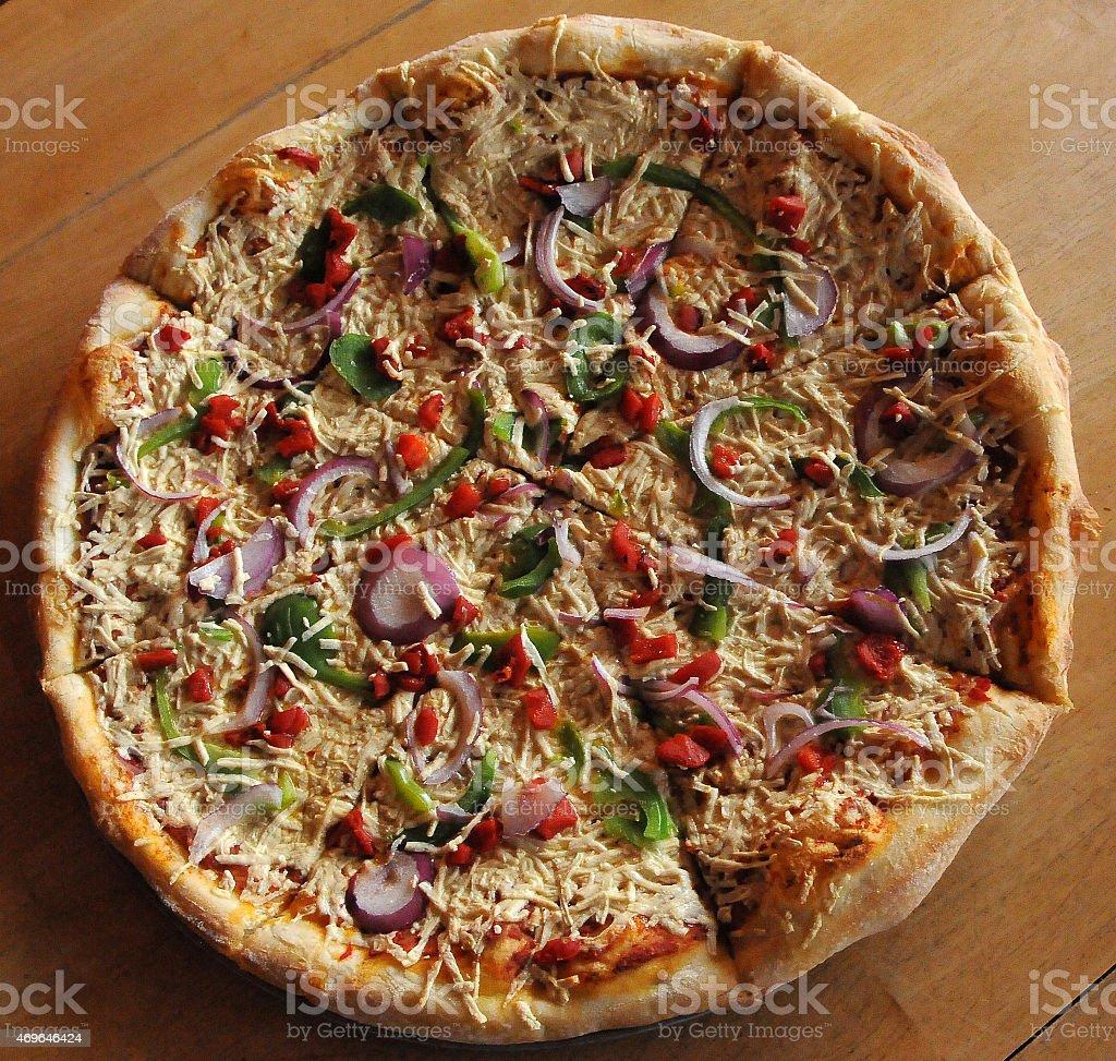 Vegan Pizza Isolated Above stock photo