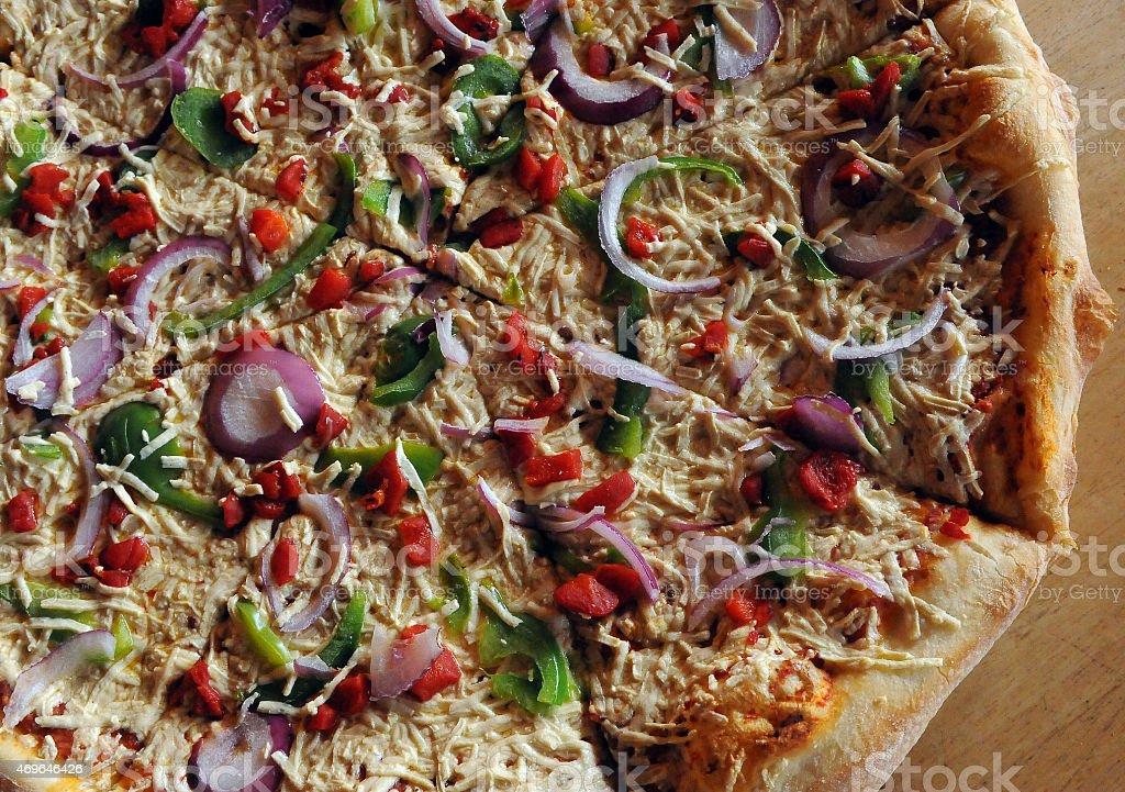 Vegan Pizza Portion stock photo