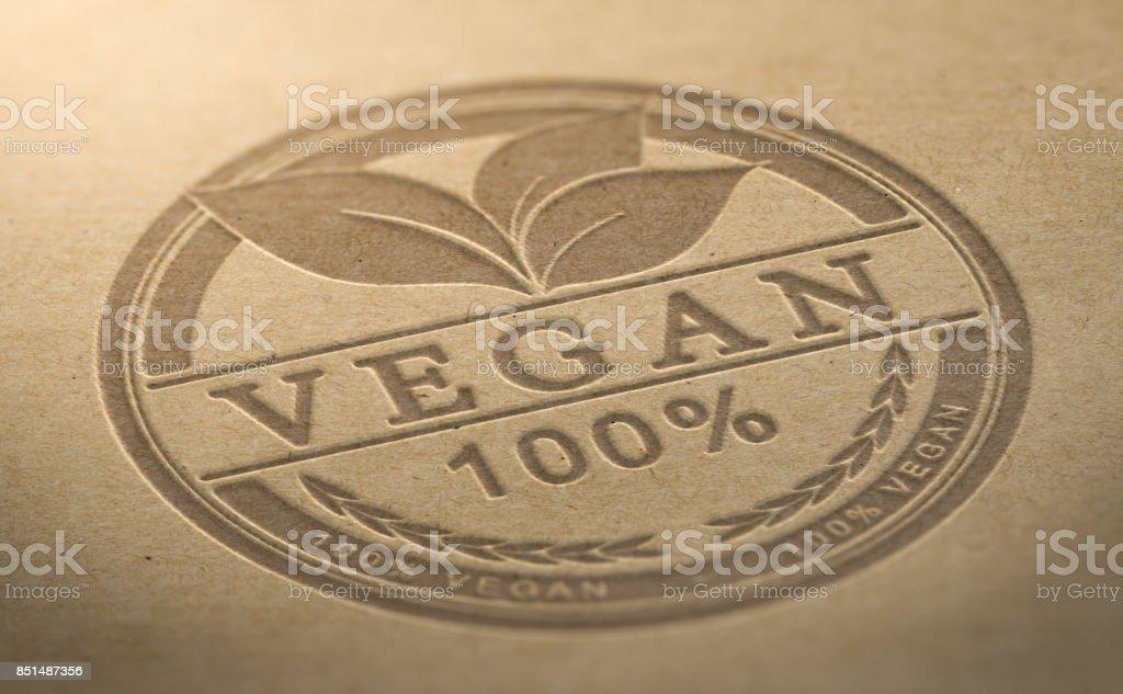 Vegan Product Certified stock photo