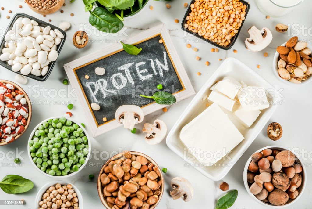 Vegan  protein sources stock photo
