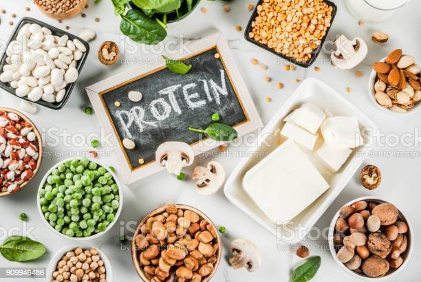 Vegan Protein Sources Stock Photo - Download Image Now