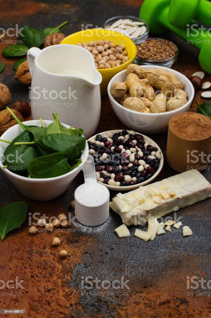 Vegan proteins food stock photo