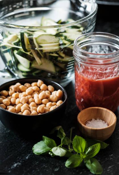 Vegan Recipe Ingredients stock photo