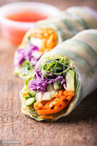 istock vegan rice paper spring rolls with veggies 577327616