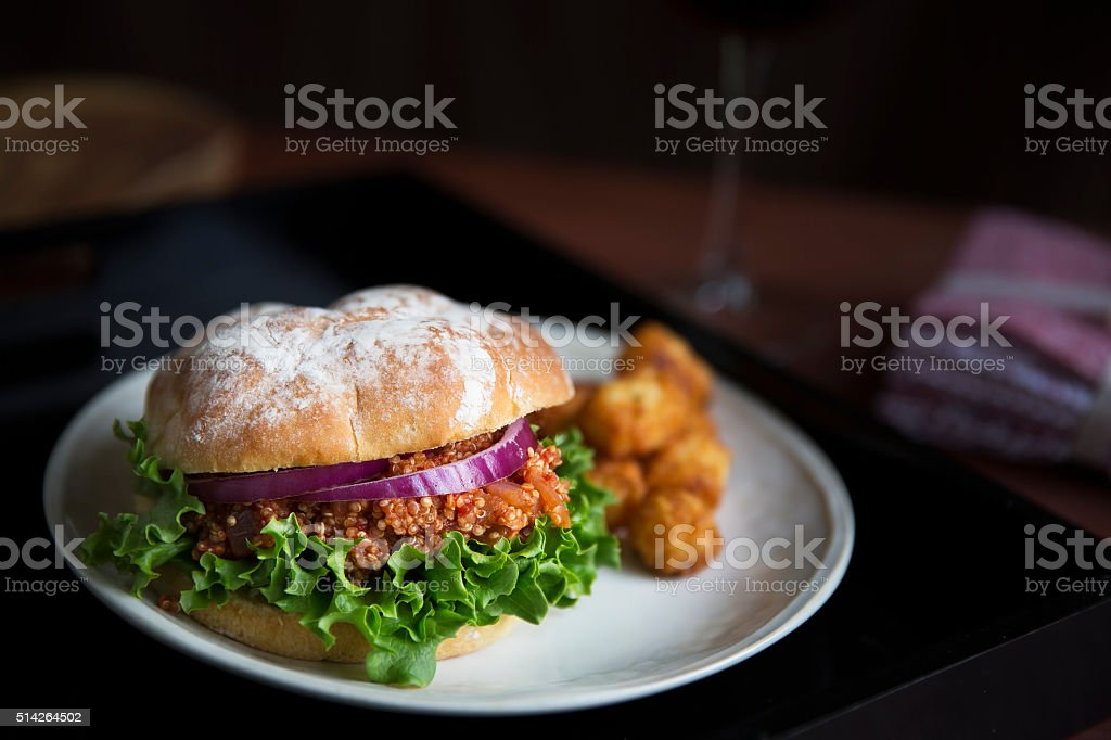 Vegan Sloppy Joe Dinner stock photo