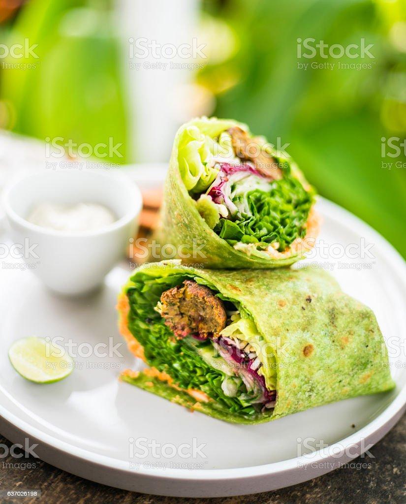 Vegan wrap stock photo