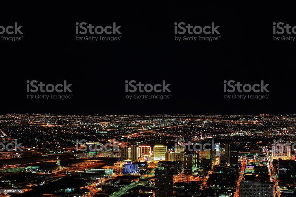 Vegas Downtown at Night stock photo