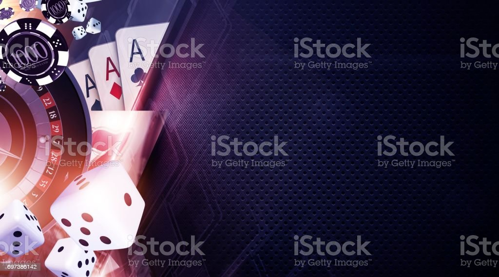 Vegas Games Background stock photo