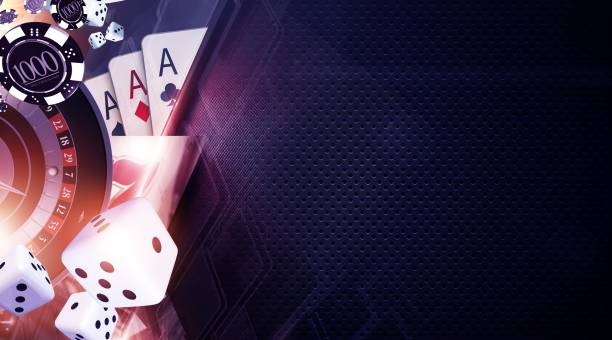 Vegas Games Background Vegas Games Background. Casino Gambling Banner Backdrop Concept. game of chance stock pictures, royalty-free photos & images
