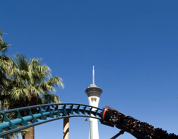 Vegas Roller Coaster stock photo