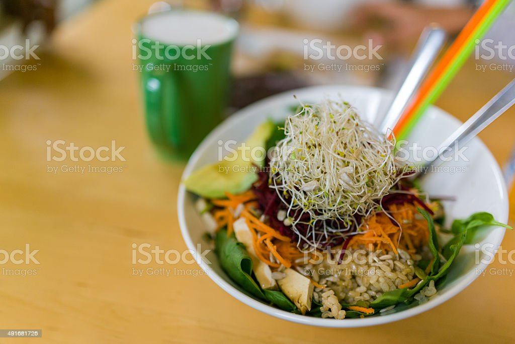 Vegen lunch stock photo