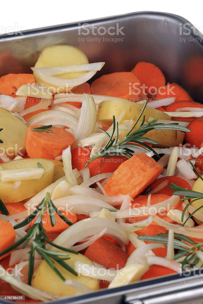 Veges ready for baking royalty-free stock photo