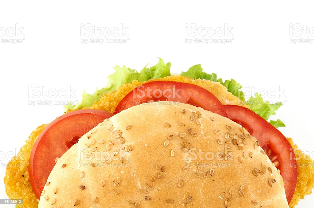 Panino verdure e pollo royalty-free stock photo