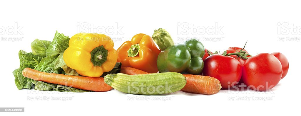 Vegetable arrangement stock photo