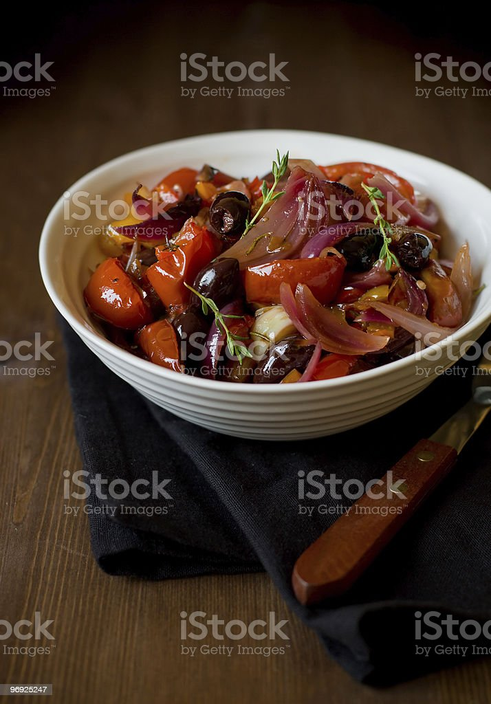 Vegetable baked royalty-free stock photo