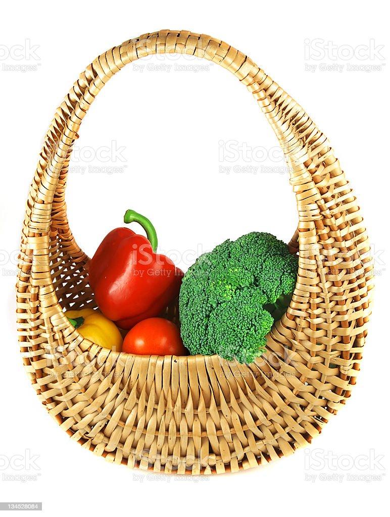 Vegetable basket royalty-free stock photo
