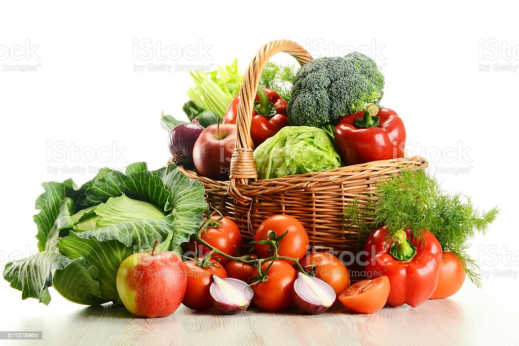 Perfect ... Vegetable Basket Stock Photo ...