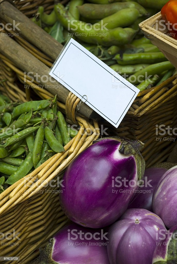 Vegetable basket with copy space royalty-free stock photo