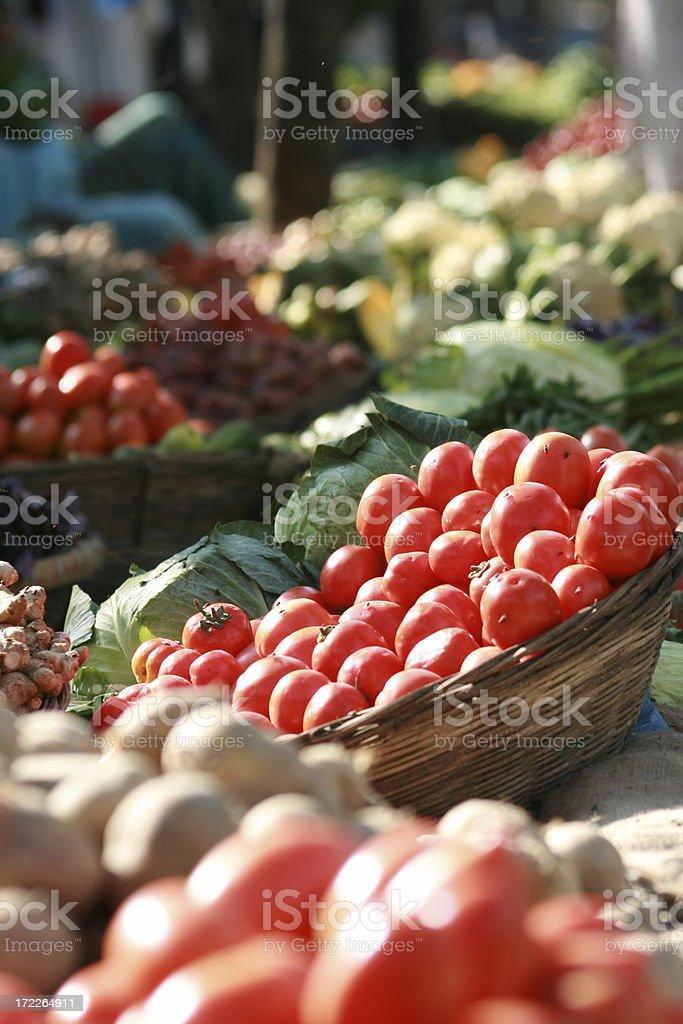 vegetable bazaar royalty-free stock photo
