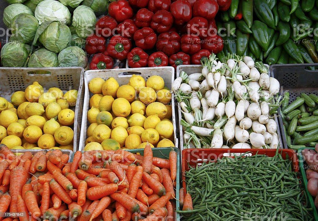 Vegetable bazaar stock photo
