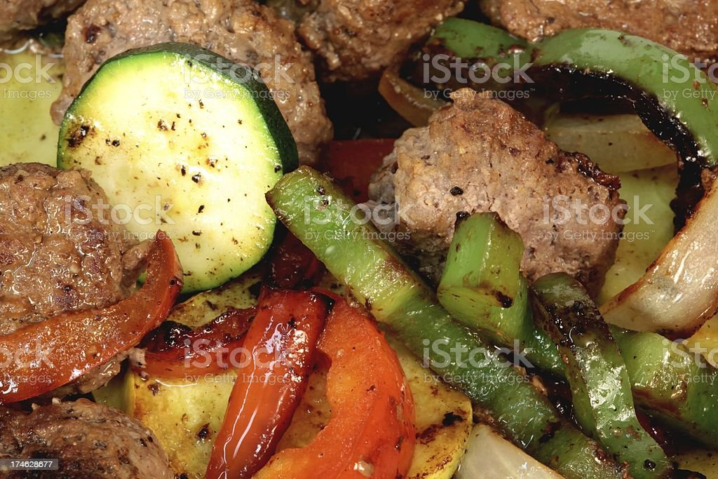 Vegetable Beef Saute royalty-free stock photo