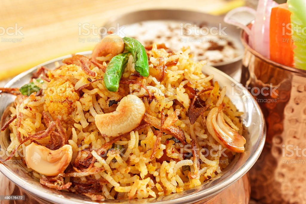 Vegetable Biriyani stock photo