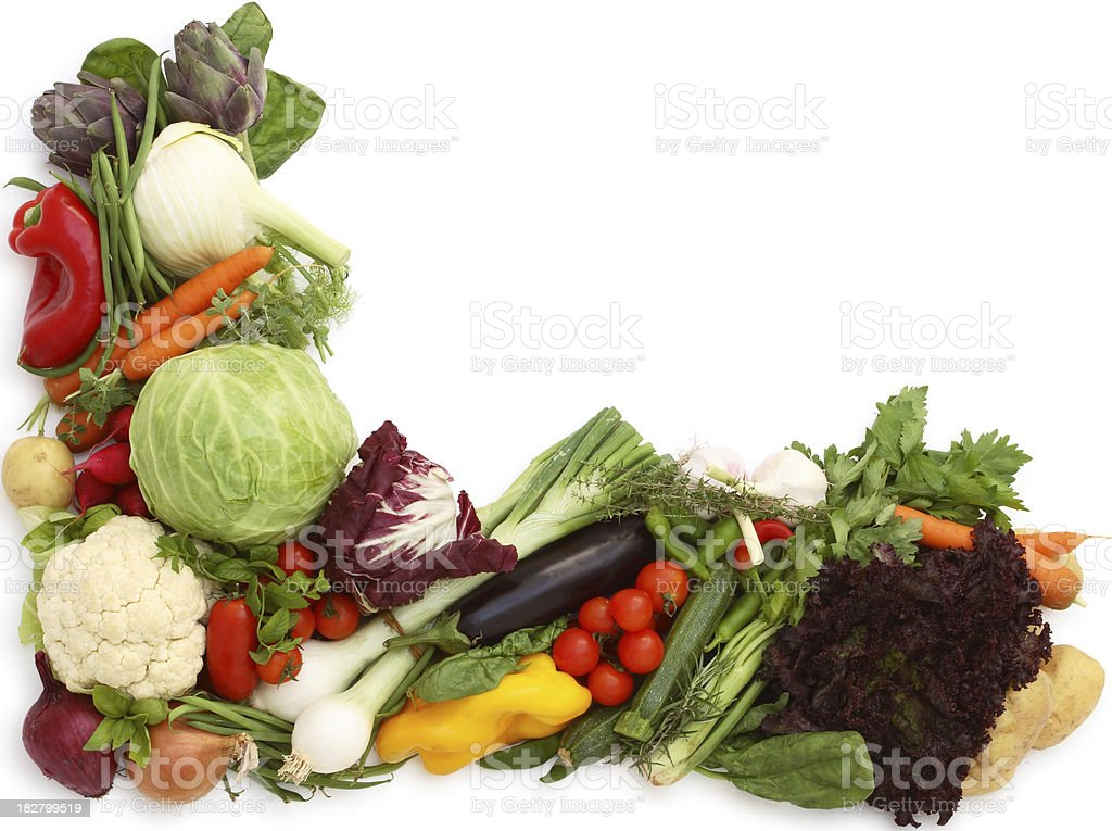 Vegetable Border. royalty-free stock photo