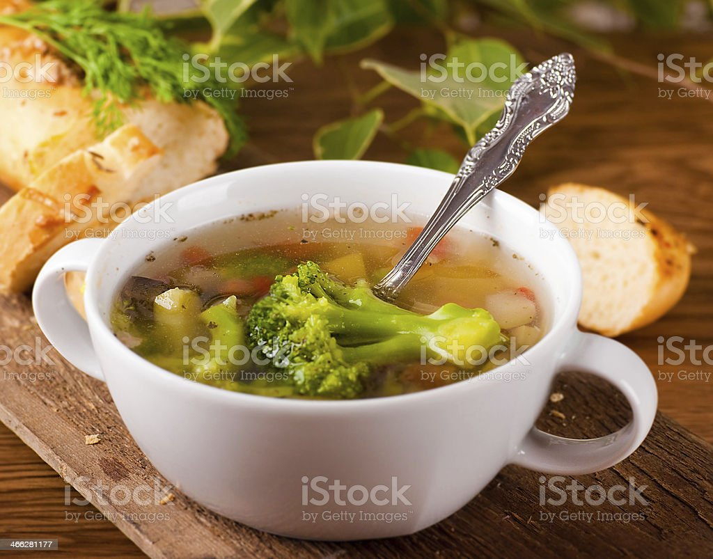 Vegetable broccoli soup royalty-free stock photo