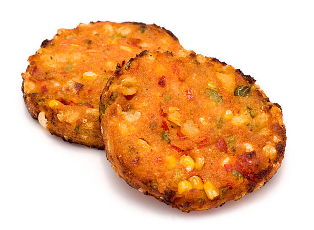 Vegetable burgers Vegetable burgers on a white background. fritter stock pictures, royalty-free photos & images