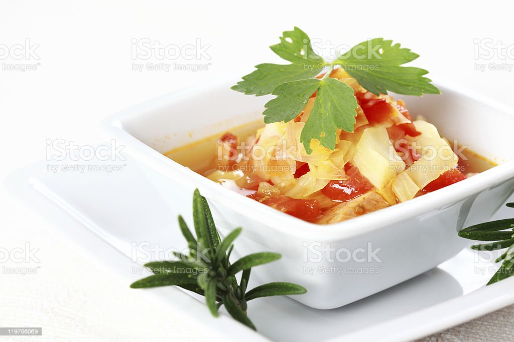 Vegetable cabbage stew royalty-free stock photo